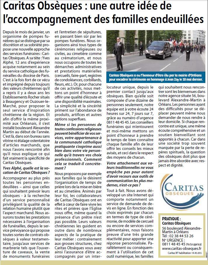 Caritas obseques republique du centre
